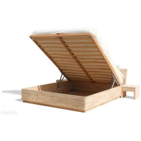 Bed Box by Box Bed Of Solid Beech Wood With Liftable Slats Shop Cinius