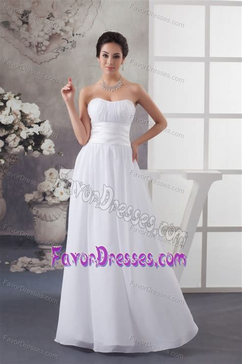 beautiful empire sweetheart ruched dress for wedding