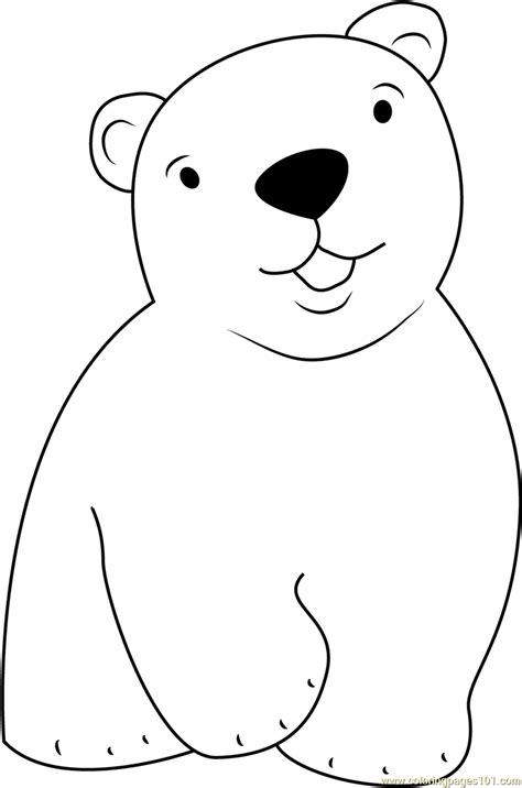Cute Little Polar Bear Coloring Page Free The Little Polar Coloring Pages