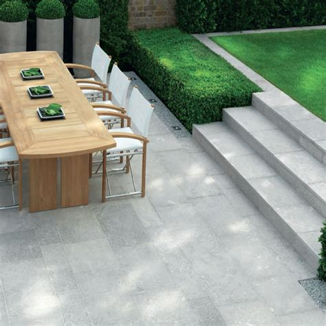 Single White Paving Slabs Back Garden Pinterest Limestone Patio Pavers