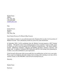 Exle Of A Cover Letter For A Student by Lab Assistant Cover Letter In This File You Can