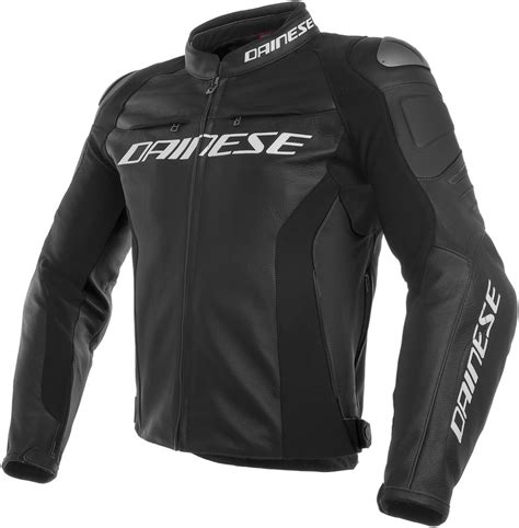 dainese mens racing  armored leather jacket