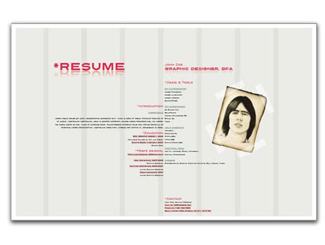 Resume Sle Indesign by Resume Indesign