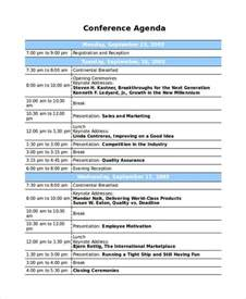 8 sample professional agenda free sample example