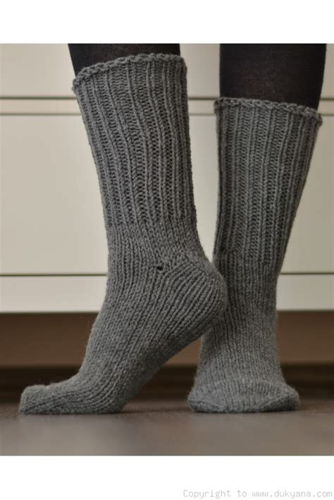 Handmade Wool Socks - handmade mens wool socks in gray so66