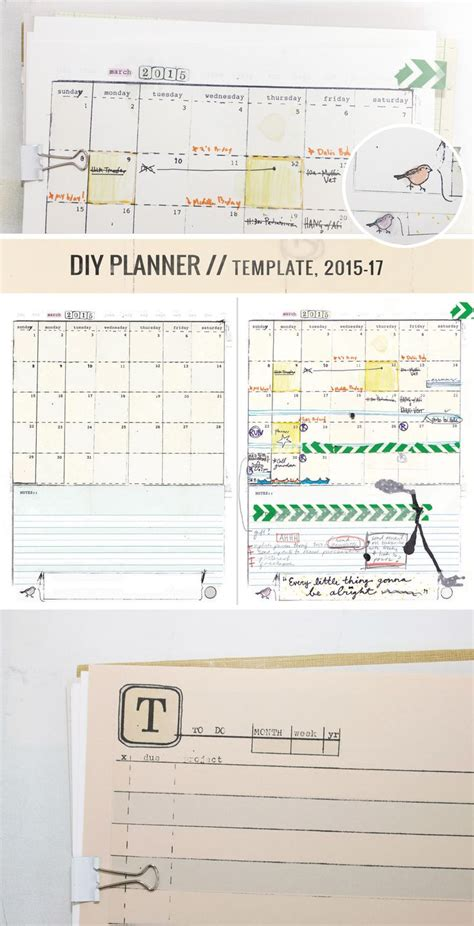 Handmade Planners - make your own handmade mismatched diy planner