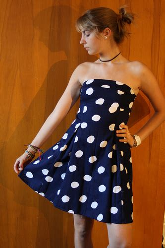 Dress 068 Original Ninos blue and white dotted dress sewing projects burdastyle