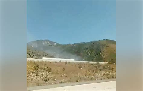 cajon pass fire small brush fire in cajon pass quickly knocked down