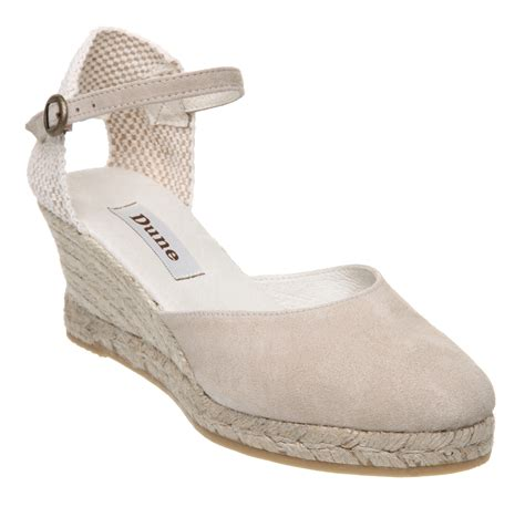 wedge sandals size 5 new dune nashville womens taupe espadrille wedge