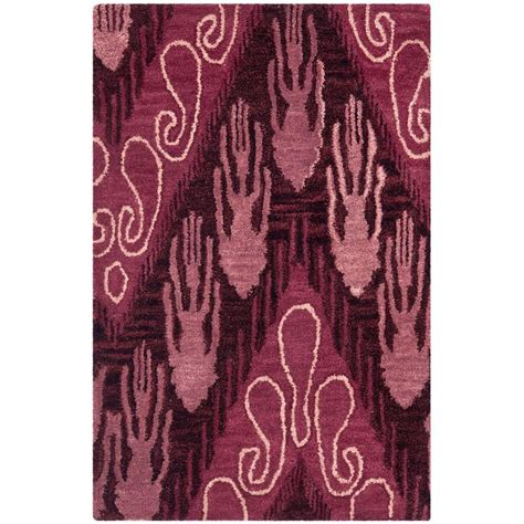 brown and purple rug safavieh ikat brown purple 2 ft x 3 ft area rug ikt473a 2 the home depot