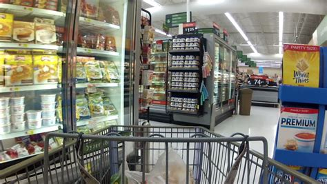 grocery store footage stock