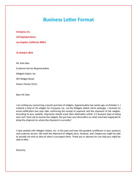 business format letter 2018 official letter format fillable printable pdf