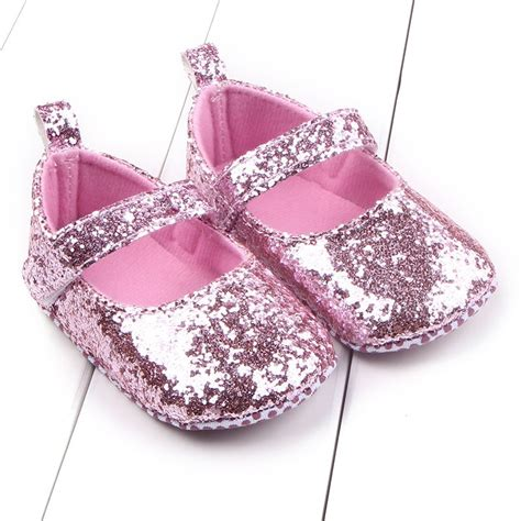Bw2049 New Year Baby Dress Prewalker newborn baby princess shoes sequins bling crib shoes prewalker soft sole ebay