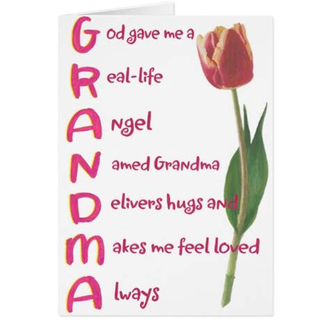 Grandma Gift Cards - grandma cards zazzle