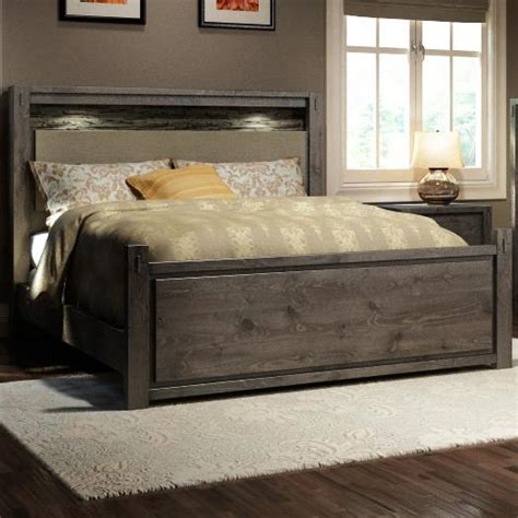 stone bedroom furniture defehr series 697 king rustic panel bed stoney creek