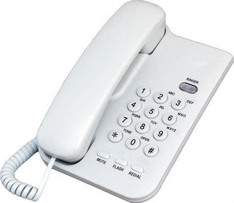 cheap analog basic land line telephone without display
