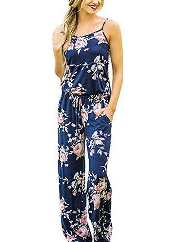 Blue Casual Leisure Sml Jumpsuit xuan2xuan3 sleeveless spaghetti waist tie floral print wide leg pant