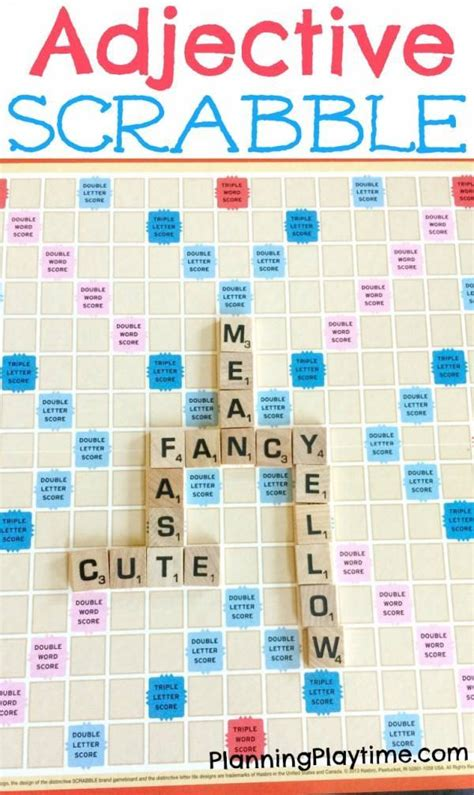 learn scrabble learn about parts of speech with scrabble lesson plans