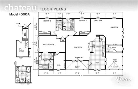 chion manufactured homes floor plans avalon series floorplans triple wide homes karsten el