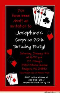 casual casino party invitation birthday surprise