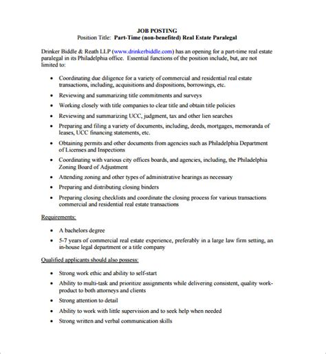 Legal Assistant Job Description Template 10 Free Word Pdf Format Download Free Premium Real Estate Description Template