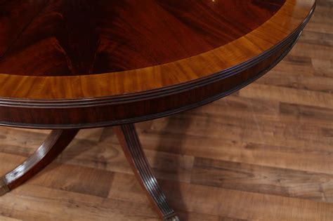 48 Round Dining Table With Leaf Round Mahogany Dining Ebay 48 Dining Table With Leaf