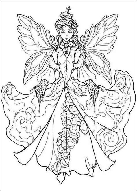 Free Colouring In Pages Fairiesl