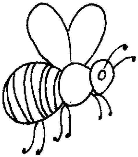 bee coloring pages preschool bumble bee template preschool clipart best