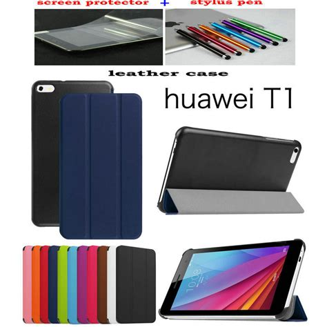 Hp Huawei T1 7 0 lichi leather cover stand cover funda for huawei mediapad t1 7 0 t1 701u tablet