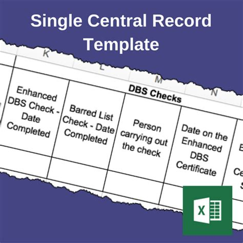 on the record template single central record template safeguarding resources