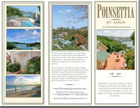 st lucia the official travel guide books brochure reports travel guides poinsettia view
