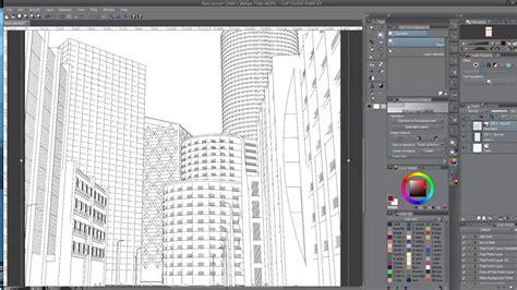 tutorial webtoon blender freestyle for background line art youtube