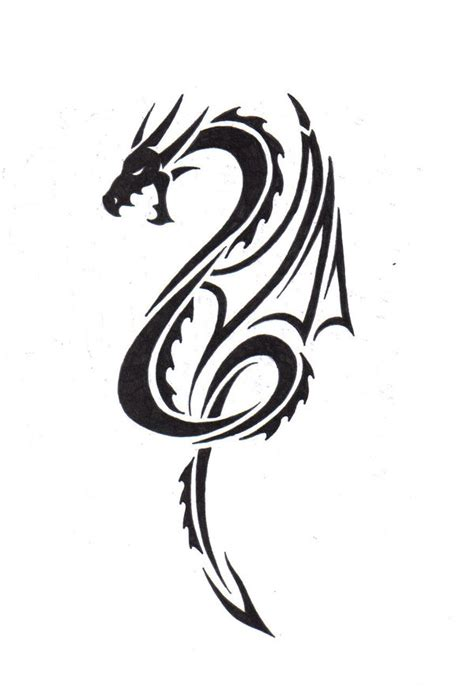 simple tattoo design download simple tribal dragon tattoo clipart best