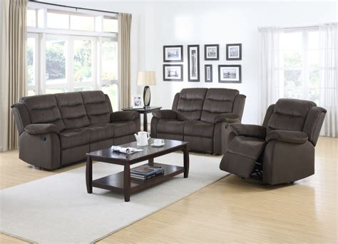 dual reclining bucket seat sofa and loveseat set 601881