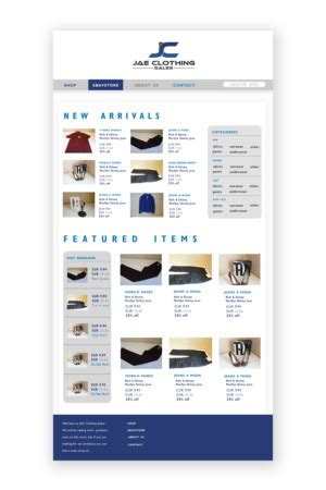 designcrowd shopify personable upmarket shopify design for jae sales llc by