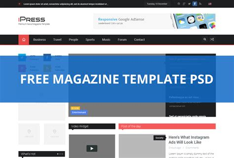 sahifa template for blogger free download 2016 all magazine blog template psd