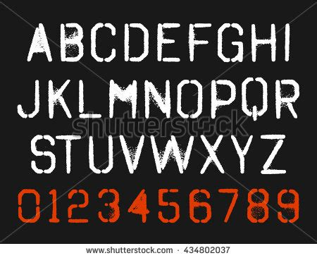 spray paint font type spray paint stencil font type alphabet stock vector