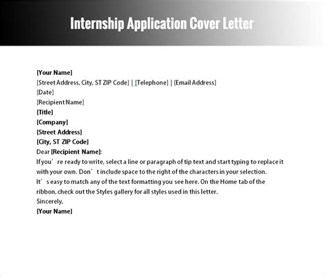 application letter for internship architecture cover letter template for architects