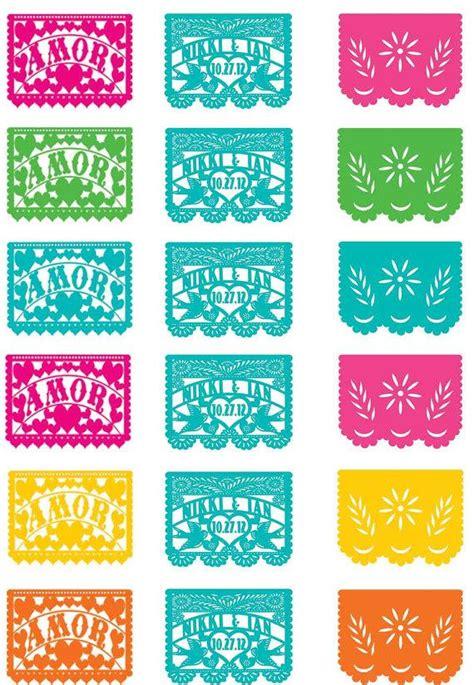 printable fiesta banner papel picado template fiesta www pixshark com images