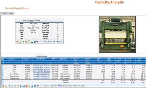 capacity planning software manufacturing web based