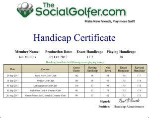 golf handicap card template the social golfer golf societies golf groups golf