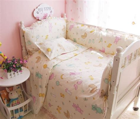 Colorful Little Bear Baby Crib Bedding Set Sheet Bumper Colorful Crib Bedding Sets