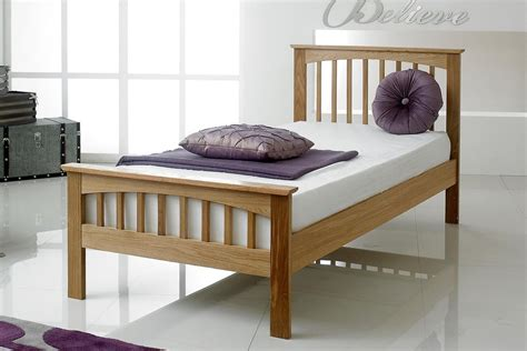 Single Oak Bed Frame Heywood Solid Oak Bed Frame 3ft Single The Oak Bed