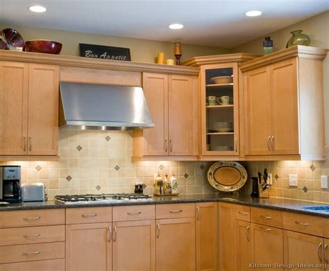 kitchen cabinets lights pictures of kitchens traditional light wood kitchen