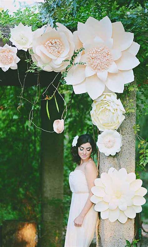 arco fiori 5 idee con i fiori di carta per il matrimonio sposalicious