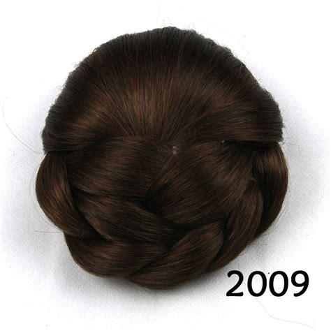 Braided Hair Bun clip in on s braided hair bun chignon donut