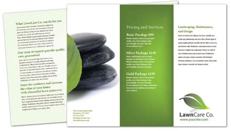 tri fold brochure template for lawncare services order