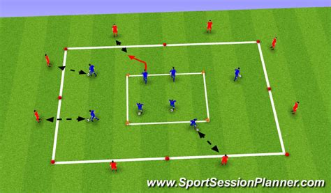 setting drills for one person football soccer passing and receiving technical passing