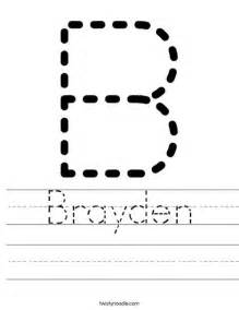 tracing letter worksheets for any name at home