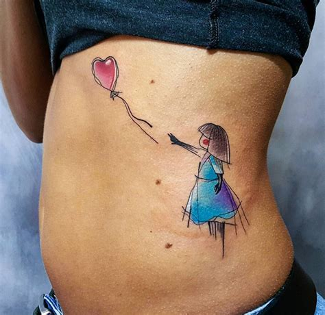 girl with balloon tattoo balloon best design ideas